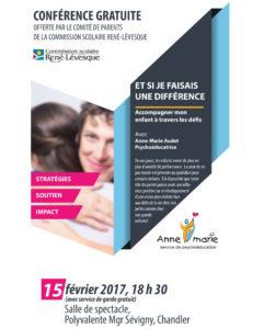 Conférence Anne-Marie Audet